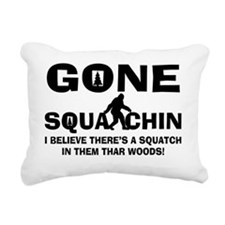 Gone Squatchin Bigfoot I Rectangular Canvas Pillow