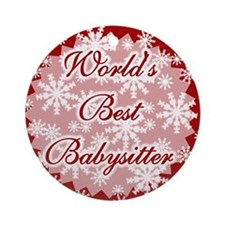 World's Best Babysitter Ornament (Round)