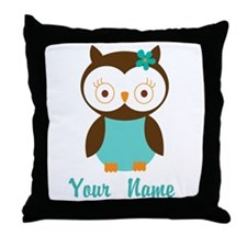 Personalized Owl Throw Pillow