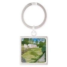 #5 square Square Keychain