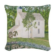 #9 square Woven Throw Pillow