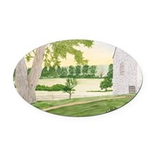 #6 Laptop Oval Car Magnet