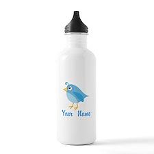 Personalized Blue Bird Water Bottle