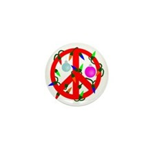 peacechristmasred Mini Button