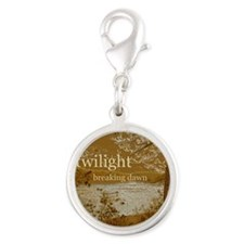 Twilight Breaking Dawn Silver Round Charm