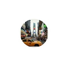 007890 Times Square NYC 2013 Mini Button (100 pack