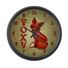 Foxy Large Wall Clock