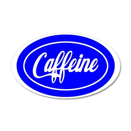 caffeine 35x21 Oval Wall Decal