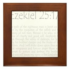 ezekiel2517 quote - grey Framed Tile