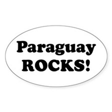 Paraguay Rocks! Oval Decal