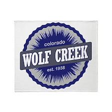 Wolf Creek Ski Resort Colorado - Blu Throw Blanket