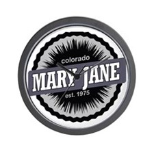 Mary Jane Ski Resort Colorado Black Wall Clock