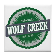 Wolf Creek Ski Resort Colorado Green Tile Coaster