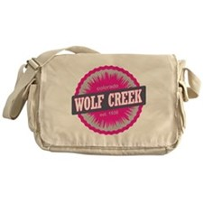 Wolf Creek Ski Resort Colorado Pink Messenger Bag
