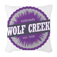 Wolf Creek Ski Resort Colorado Woven Throw Pillow