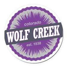 Wolf Creek Ski Resort Colorado Pu Round Car Magnet