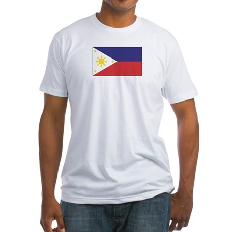 Philippine Flag Fitted T-shirt