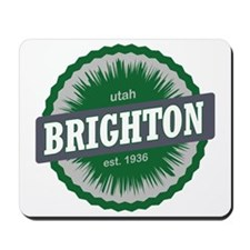 Brighton Ski Resort Utah Green Mousepad