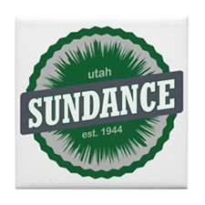 Sundance Ski Resort Utah Green Tile Coaster