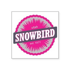 "Snowbird Ski Resort Utah Pi Square Sticker 3"" x 3"""