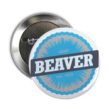 "Beaver Mountain Ski Resort Utah Sky B 2.25"" Button"