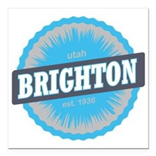 "Brighton Ski Resort Utah Square Car Magnet 3"" x 3"""