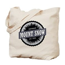 Mount Snow Ski Resort Vermont Black Tote Bag