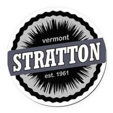 Stratton Mountain Ski Resort Verm Round Car Magnet