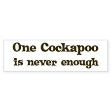 One Cockapoo Bumper Bumper Sticker