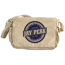 Jay Peak Ski Resort Vermont Navy Blu Messenger Bag