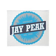 Jay Peak Ski Resort Vermont Sky Blue Throw Blanket
