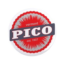 "Pico Mountain Ski Resort Vermont Red 3.5"" Button"