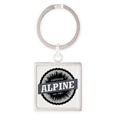 Alpine Meadows Ski Resort Ski Reso Square Keychain