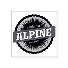 "Alpine Meadows Ski Resort S Square Sticker 3"" x 3"""
