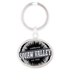 Squaw Valley Ski Resort California B Oval Keychain