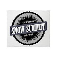 Snow Summit Mountain Resort Ski Reso Throw Blanket