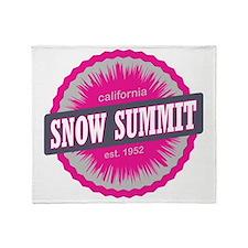 Snow Summit Ski Resort California Pi Throw Blanket