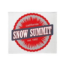 Snow Summit Ski Resort California Re Throw Blanket