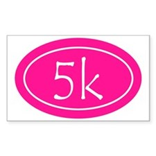 Pink 5k Oval Decal
