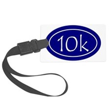 Blue 10k Oval Luggage Tag