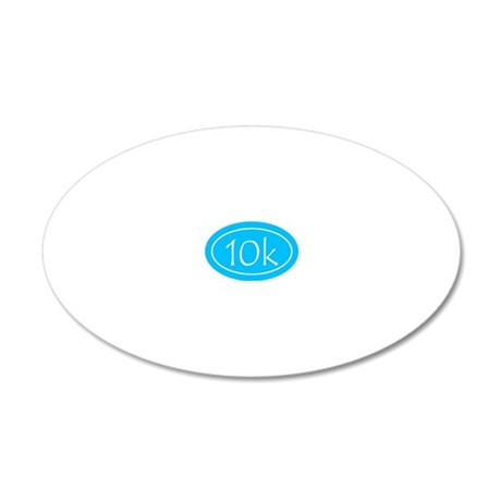 Sky Blue 10k Oval 20x12 Oval Wall Decal