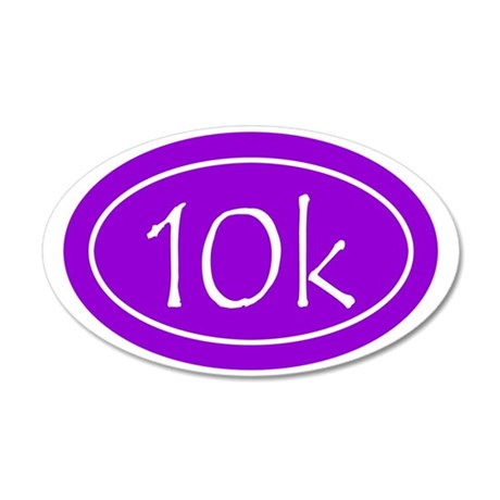 Purple 10k Oval 35x21 Oval Wall Decal