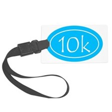Sky Blue 10k Oval Luggage Tag