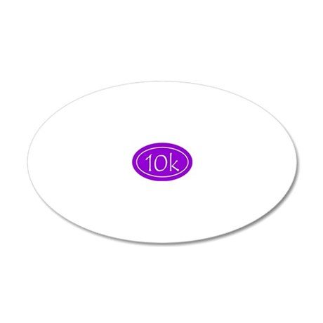 Purple 10k Oval 20x12 Oval Wall Decal