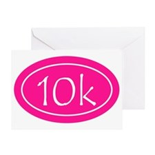 Pink 10k Oval Greeting Card