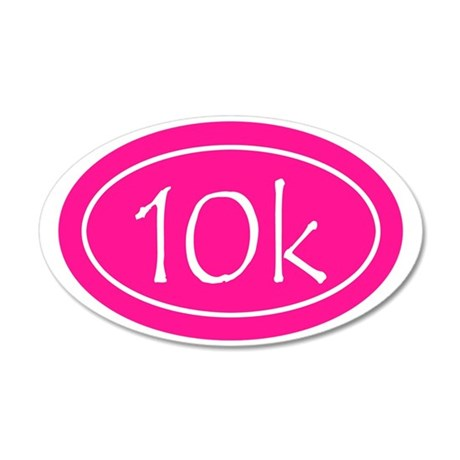 Pink 10k Oval 35x21 Oval Wall Decal