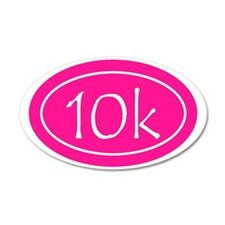 Pink 10k Oval Wall Decal