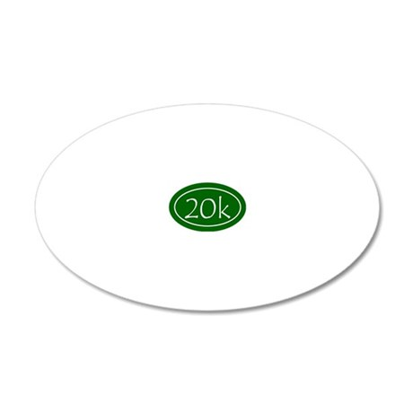 Green 20k Oval 20x12 Oval Wall Decal