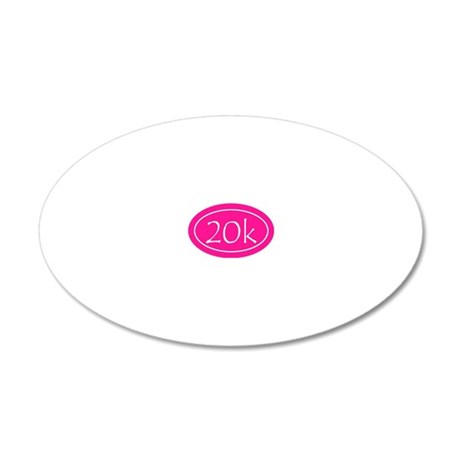 Pink 20k Oval 20x12 Oval Wall Decal