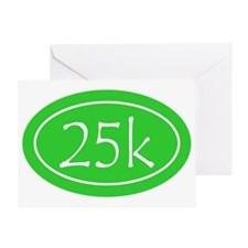 Lime 25k Oval Greeting Card